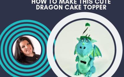 UN DRAGHETTO PER CAKE TOPPER