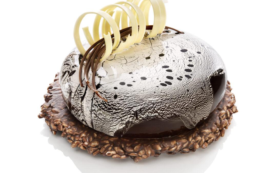 Torta Semifreddo con Glassa Cioccolato